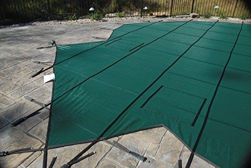Gli ProMesh 18ft x 36ft rechteckig Sicherheit Cover System, grün (Winter Gli Pool Cover)