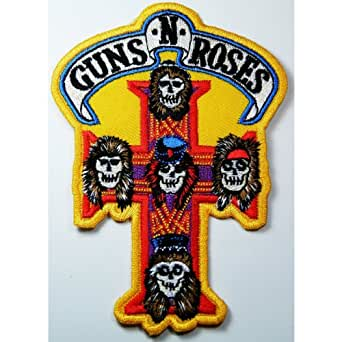 Guns N Roses patches Rock Music Band Patches Embroidered iron/sew on Patch to Cloth, Jacket, Jean, Cap, T-shirt and Etc. /Size 8x11.5 cm