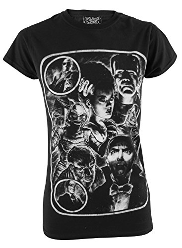 Monster Mash Up Horror Movie Genuine Darkside Womens T Shirt