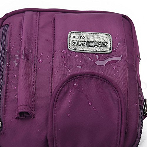 Viaggi sacchetto esterno casual impermeabile in nylon a tracolla diagonale borsa pacchetto , black Black