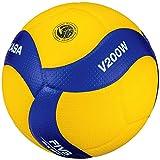 MIKASA V200W-ÖVV Ballon de Volleyball Bleu/Jaune 5