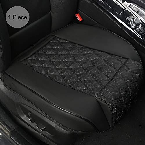 BLACK PANTHER PU Coprisedile Auto,Leg Rest Design,Siège Unique Sans Dossier(W 21.26''*D 20.87')(1 Pièce,Nero)