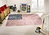 Union Jack Vintage Teppich Stars & Stripes USA Flagge Fahne (120x170 cm)