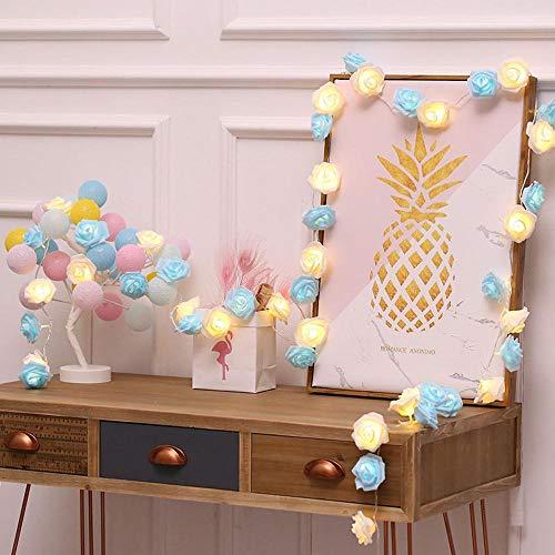 (FLYWS Führte Rose Light String Laterne-Schlafzimmer Dekoration Lampe Zeichenfolge Weihnachtsschmuck Christbaumkugeln)