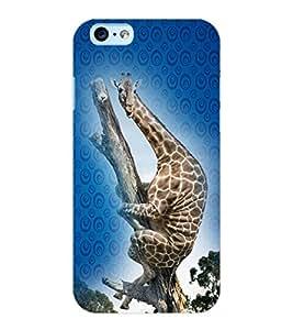 ColourCraft Funny Giraffe Design Back Case Cover for APPLE IPHONE 6