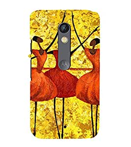 99Sublimation Bele dance by Girls 3D Hard Polycarbonate Back Case Cover for Motorola Moto X Force :: Dual SIM
