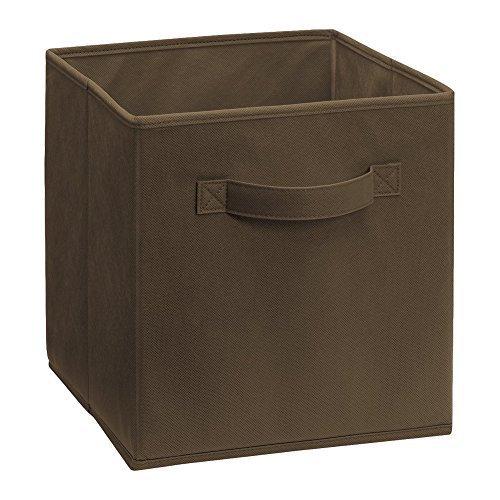 Quadratisch, faltbar Cube Canvas Stoff Aufbewahrungsboxen 27 x 27 x 28 cm Medium (Braun)