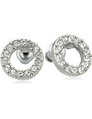 Pilgrim Jewelry Damen-Ohrstecker aus der Serie Classic versilbert weiß 1.0 cm 611316013