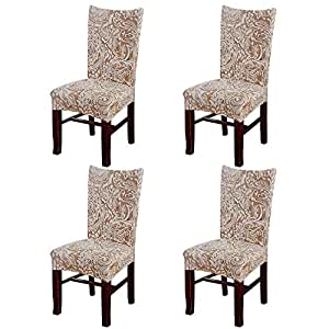 Chair Protector Cover Slipcover Pack of 4, Eleoption ...