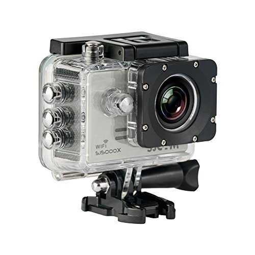 SJCAM SJ5000X Elite (WiFi integrado, 4K, pantalla de 2'' LCD, WiFi, sumergible 30 m) color plateado