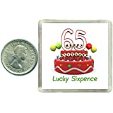 65th Birthday Lucky Sixpence Gift, Great good luck present idea for man or woman
