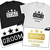 Stag Team Iron On T Shirt Transfer Groom Drinking Stag Do Party Wedding Vinyl