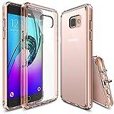 Galaxy A5 Hülle, Ringke [Fusion] Kristallklarer PC TPU Dämpfer (Fall Geschützt/Schock Absorbtions-Technologie) für Das Samsung Galaxy A5 2016 - Rose Gold Crystal
