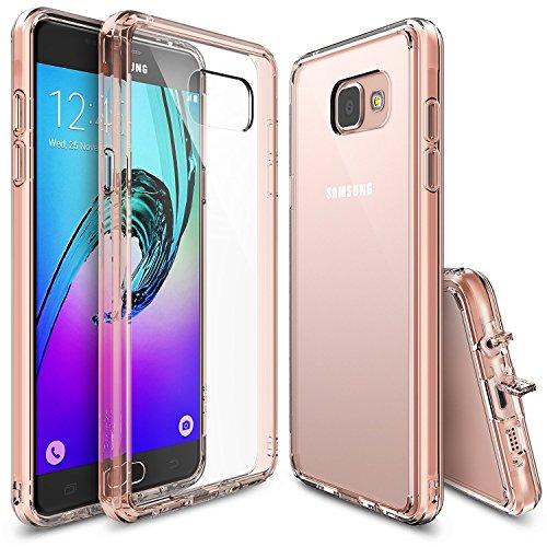 Preisvergleich Produktbild Galaxy A5 Hülle,  Ringke [Fusion] Kristallklarer PC TPU Dämpfer (Fall Geschützt / Schock Absorbtions-Technologie) für Das Samsung Galaxy A5 2016 - Rose Gold Crystal