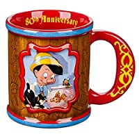 Large hot beverage mug, Tankard shape Decorated handle, 80th Anniversary'' text inside lip, Microwave and dishwasher safe