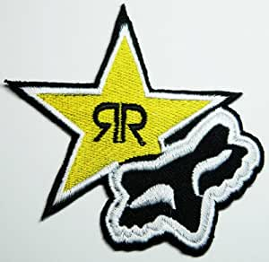 Ecusson brodefox Rockstar Energy Drink Patches Star Iron on Patch Racing Patches Embroidered Iron on Patch