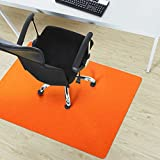 casa pura Trendige Bodenschutzmatte für Hartböden   PVC- und phthalatfrei   Orange   120 x 75 cm