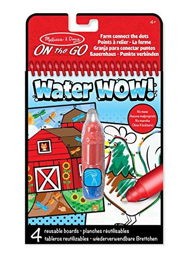 Melissa & Doug 4 tableros temáticos de la granja, Water Wow! - Connect the Dots (19485)