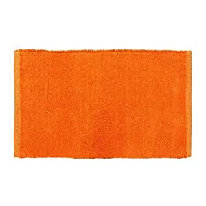 Homescapes – Tapis Uni – Chenille 100% Coton – Orange – 45 x 70 cm – Lavable à la Maison – Tapis pour Chambre d'Enfants ou pour Salle de Bains