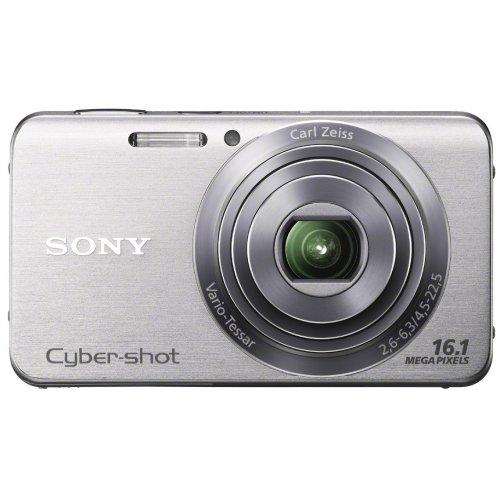 Sony DSC-W630S Cyber-shot Digital Kamera (16 Megapixel, 5x opt. Zoom, 6,7 cm (2,7 Zoll) LCD-Display, bildstabilisiert) Schwenkpanorama Aufnahme und iAUTO silber Sony Ccd-serie
