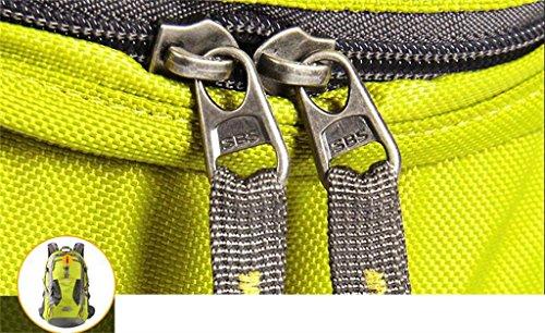 arrampicata all'aperto uomini e donne impermeabile zaino borsa da viaggio trekking borsa grande capacità di 40L borsa tracolla ( Colore : Rosso , dimensioni : 40L ) Arancia