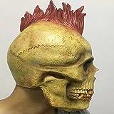 DRSMDR Gesicht Horror Mumie Kopfbedeckung Persönlichkeit Punk Mantel Maske Call Of Duty Ghost Ride CS Maske,Red