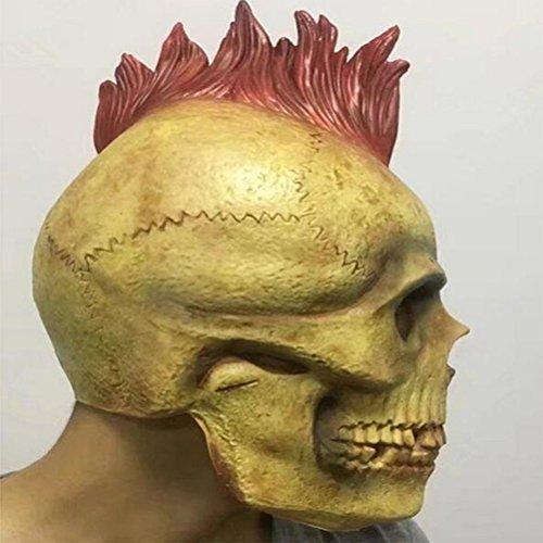 DRSMDR Gesicht Horror Mumie Kopfbedeckung Persönlichkeit Punk Mantel Maske Call Of Duty Ghost Ride CS Maske,Red (Halloween-maske Of Duty Ghosts Call)