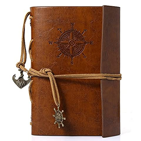 Candora Traveler's Handbook Vintage Diary Notebook Leather Travel Planner Notebook