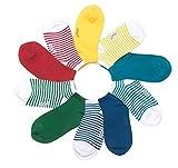 Sneaker Socken von FOOTNOTE®, 10 Paar, Damen/Herren, in bunt (rot, grün, blau, gelb),Größe: 39-42