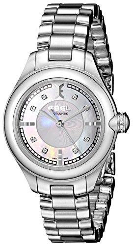 EBEL WOMEN'S ONDE 30MM STEEL BRACELET & CASE AUTOMATIC MOP DIAL WATCH 1216155