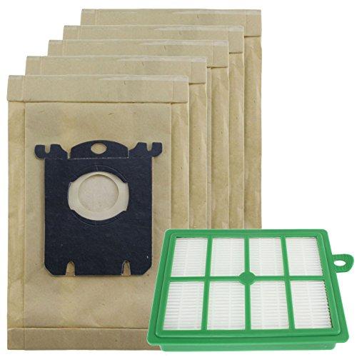 spares2go stark Staub Taschen und EFH12Filter Kit für Electrolux Clario Staubsauger (5Stück Staubbeutel + 1Filter) -