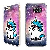 Premium Handyhülle 'Einhorn' für Samsung Galaxy - Silikon | Unicorn | Coolicorn | Uniqueen | Sternenstaub, Handy:Samsung Galaxy S5 / S5 Neo, Hüllendesign:Design 4 | Silikon Klar
