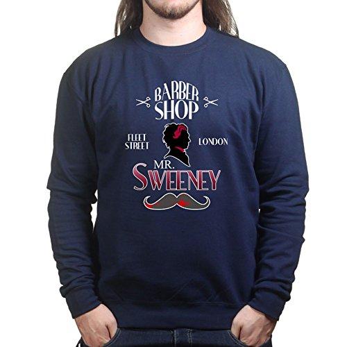 Sweeney Demon Barber Sweatshirt 3XL Navy Blue