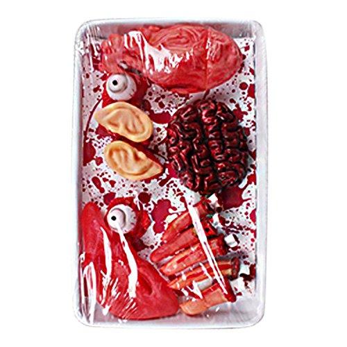 semen Halloween Organ Blutige Körperteile Abgetrennte Finger Schocker Horror Dekoration Halloween Prop für Party Karneval Fasching