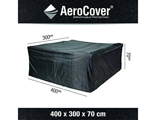 Atmungsaktive, frostbeständige und wasserdichte AeroCover Schutzhülle in anthrazit für Lounge...
