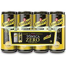 Schweppes Tónica Zero Bebida Refrescante - 8 Latas - [Pack de 3]