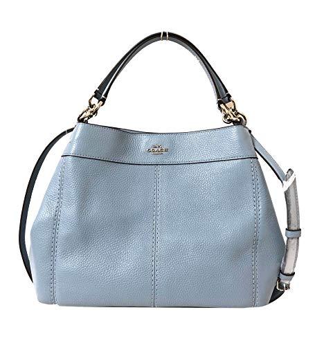 Coach Lexy Schultertasche/Handtasche aus Pebbled Leder, klein, Blau (Sv/Cornflower), Einheitsgröße