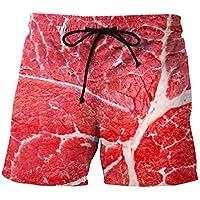 Männer 3D Fleisch Drucken Shorts Kreativdruck Jugend Mode Plus Größe Shorts Europäische Größe S-4xl