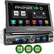 XOMAX XM-DA759 Autoradio mit Android 10, QuadCore, 2GB RAM, 32GB ROM, GPS Navigation, DVD, CD I Support: WiFi WLAN, 3G 4G, D