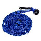 Tuyau d'eau en plastique flexible extensible de tuyau de jardin avec le pulvérisateur / 25FT