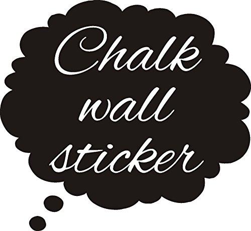 FSSS Ltd Discours Bubble2 Forme Tableau Noir Sticker Mural Art pour Enfants Filles garçons DIY, 30 x 30 cm