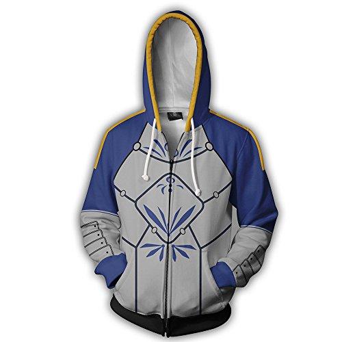 Pendragon Kostüm - Zhangjianwangluokeji Arturia Pendragon Kostüm Halloween Anime Cosplay Hoodie Zipper Jacket (Medium, Blau)