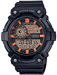 Casio Reloj Analogico-Digital para Hombre de Cuarzo con Correa en Resina AEQ-200W-1A2VEF