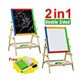 Best Easels - Kids Bedroom Wooden Double Sided Easel Chalk Drawing Review