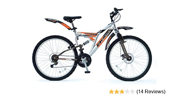 BOSS Cragg Mens 18 Speed Dual Suspension Bike - 26 Inches: Amazon.co ...
