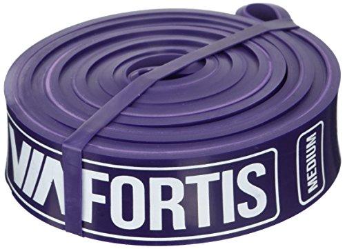 VIA-FORTIS-Premium-Fitnessbnder-mit-Tasche-und-bungsanleitung--Klimmzug-Band-fr-CrossFit-Calisthenics-oder-Freeletics-Workout--Resistance-Band-Widerstandsband-in-MEDIUM-Lila