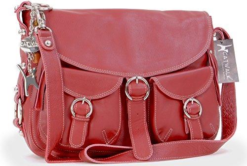 borsa-grande-a-tracolla-in-pelle-di-catwalk-collection-courier-rosso
