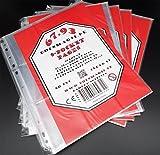 docsmagic.de 50 9-Pocket Pages - 11-Hole - 3-Ring Album Ordnerseiten