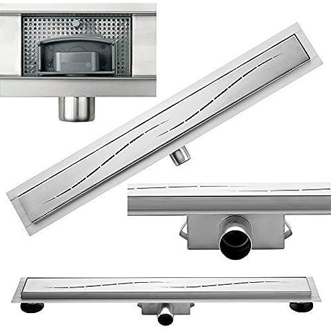 700 mm Canaletta per doccia doccia sifone di scarico in acciaio INOX dalla base alla fine quando