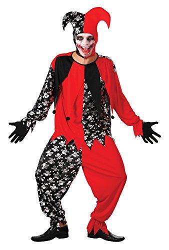 Bristol novelty ac172 costume da buffone cattivo, nero